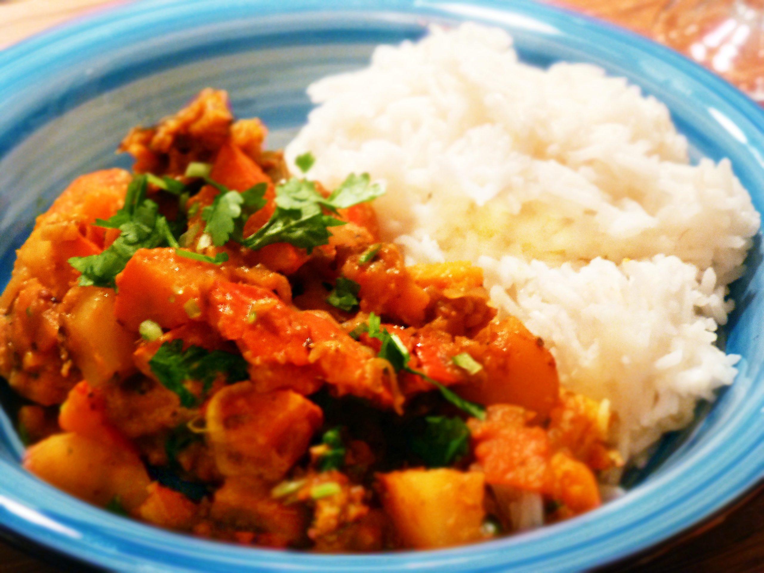 Kürbis-Kartoffel-Curry